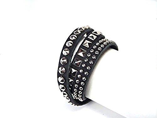 [해외]가죽 3 배 감기 박힌 팔찌/Genuine leather triple winding studs bracelet