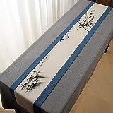 QY テーブルランナー コットンとリネン テーブルフラグ 素朴な 端 レトロ 古い シック 結婚式 デコレーション 屋外の パーティー デコレーション QY テーブルランナー (Color : T9, Size : 30*230CM)