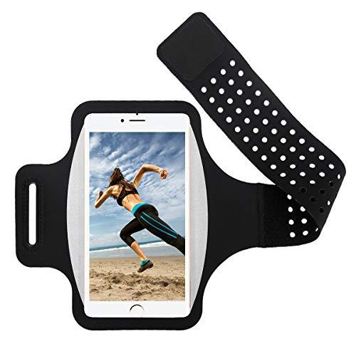 ランニングアームバンド chuangmeida 超薄型軽量スポーツ スマートフォン入れアームバンドケース 調節可能 防汗スマホ アームバンド タッチ iPhone X XR XS Plus、iPhone 6 7 8 Plus、Samsung S9 S8 Plus、 Androidなど 6.0インチまでのスマホに対応