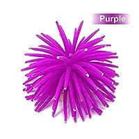 ACHICOO オーナメント ミニ 人工ウニ球 水族館 水槽 飾り 紫