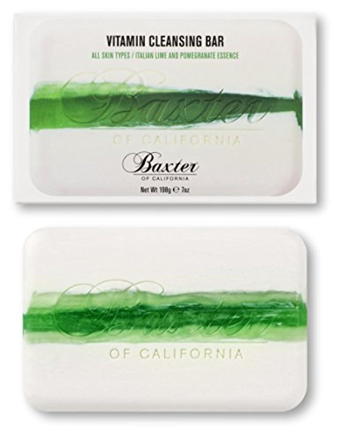 昼寝シルク窒息させるBaxter OF CALIFORNIA(バクスター オブ カリフォルニア) ビタミンクレンジングバー イタリアンライム&ポメグラネート 198g