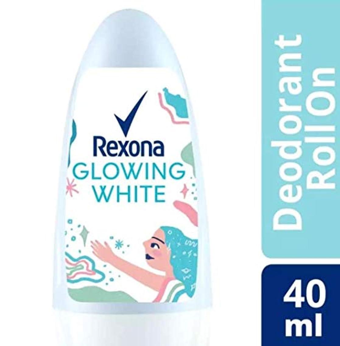 滞在次カプセルRexona レクソナ woman 制汗 デオドラント ロールオン GROWING WHITE【アルコール 0%】 ソフトなバラの香り 40ml [並行輸入品]