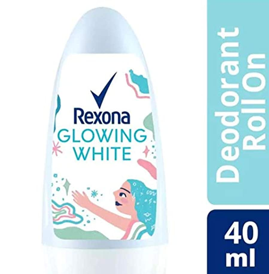 布薄い科学的Rexona レクソナ woman 制汗 デオドラント ロールオン GROWING WHITE【アルコール 0%】 ソフトなバラの香り 40ml [並行輸入品]