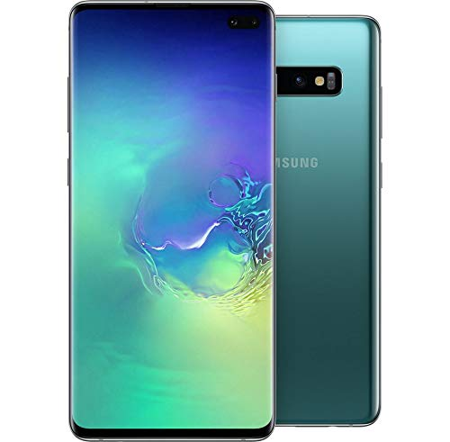 "Samsung Galaxy S10+ Plus 128GB SM-G975F/DS (SIMフリー) 6.4"" 8GB RAM Dual SIM [並行輸入品] (Prism Green/プリズム グリーン)"