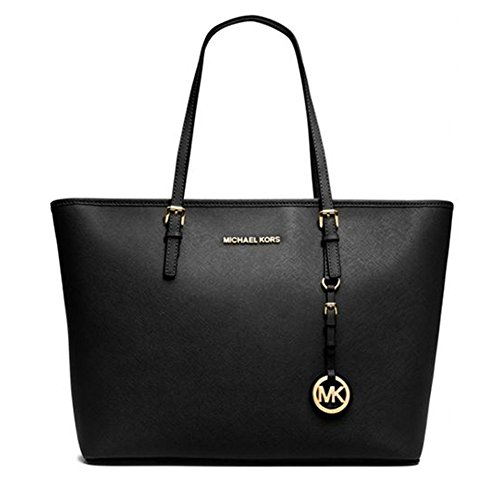 [マイケルマイケルコース] MICHAEL MICHAEL KORS JET SET TRAVEL TOP ZIP TOTE 30S4GTVT2L 5color (BLACK) [並行輸入品]