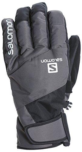 サロモン(SALOMON) スキーグローブ メンズ JP SALOMON LOGO GLOVE Forged Iron/Black Lサイズ L40287400