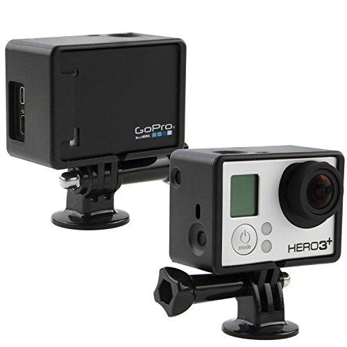 拡張 GoPro  フレームマウント、CamKix製 – GoPro Hero 4 Black & Silver, 3 & 3+ に互換性あり / USB、HDMI、SD スロット 完全にアクセス可能 – アクションカメラ用に軽くてコンパクトなハウジング – LCDとバッテリーBacPacto一緒に使用 - 中身:つまみねじ(大) 1ヶ / 三脚マウント 1ヶ / ゴムレンズキャップ 1ヶ / UVフィルターレンズプロテクター 1ヶ