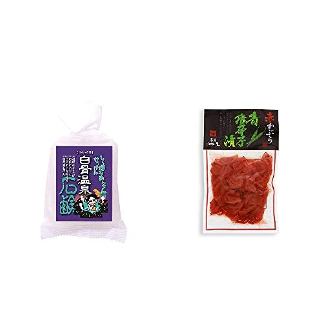 伝染病ミス三[2点セット] 信州 白骨温泉石鹸(80g)?飛騨山味屋 赤かぶら 青唐辛子漬(140g)
