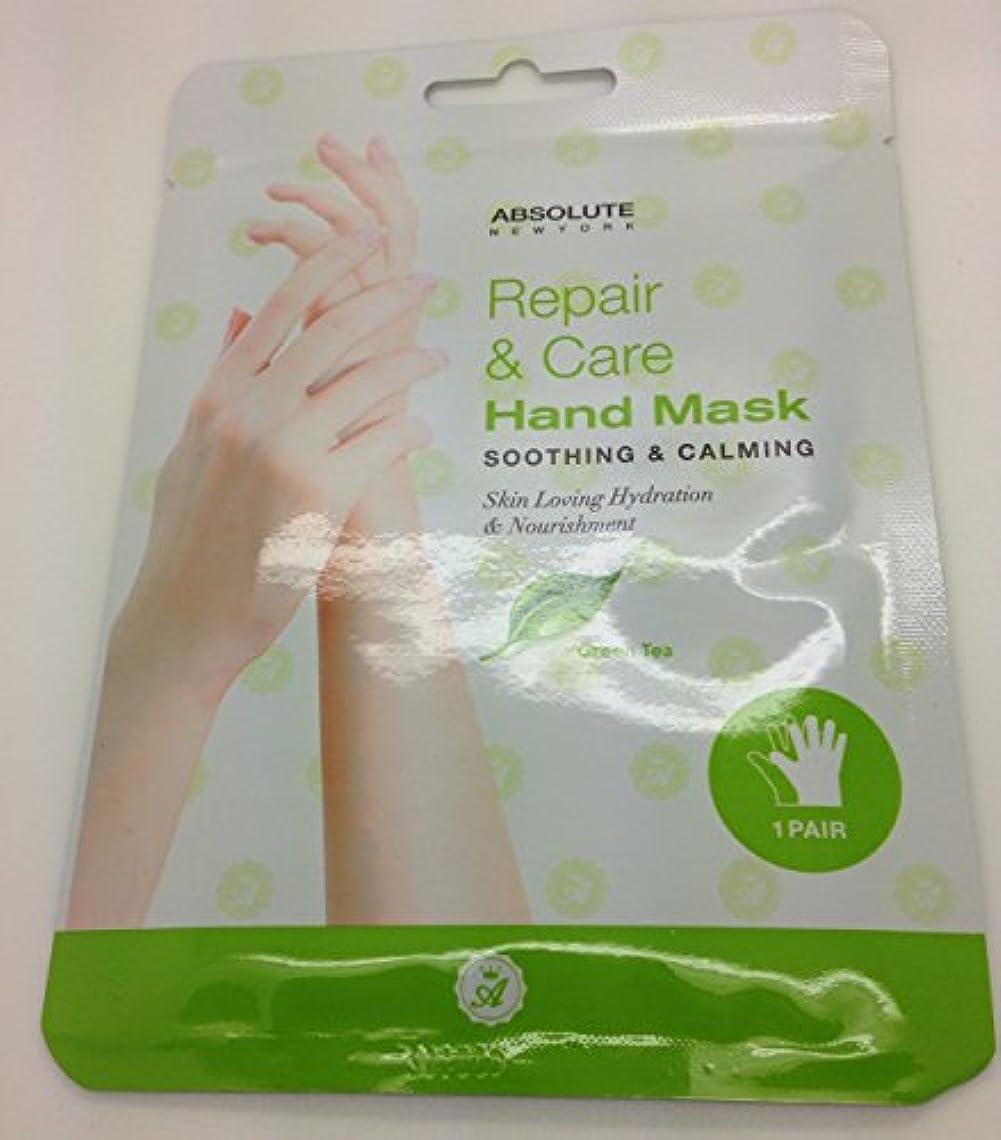 宿題をする透けて見えるフォーカスAbsolute Repair & Care Hand Mask - Green Tea (並行輸入品)