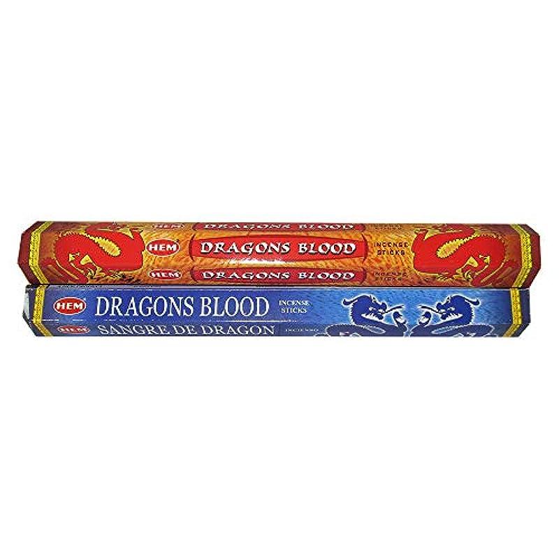 陽気な終わったリングレットHemドラゴンブラッド& Dragon 's BloodブルーIncenseコンボ: 2 x 20スティック= 40 Sticks