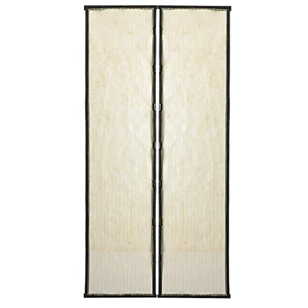 切断する近代化する悪魔tiwayer マグネット網戸 ドア用網戸 防蚊カーテン 電磁蚊帳ドア 自動的に閉じ 工具なしで簡単に設置 玄関/寝室/ベランダ/勝手口虫よけ/エコ/断熱 暑さ対策(ホワイト1)
