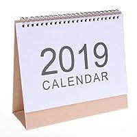 Tuantuan 2018–2019年デスクカレンダーシンプルなデザインスタンドUpデスクトップ紙カレンダーChinese Holidayカレンダー、スモール Fulfilled By Amazon