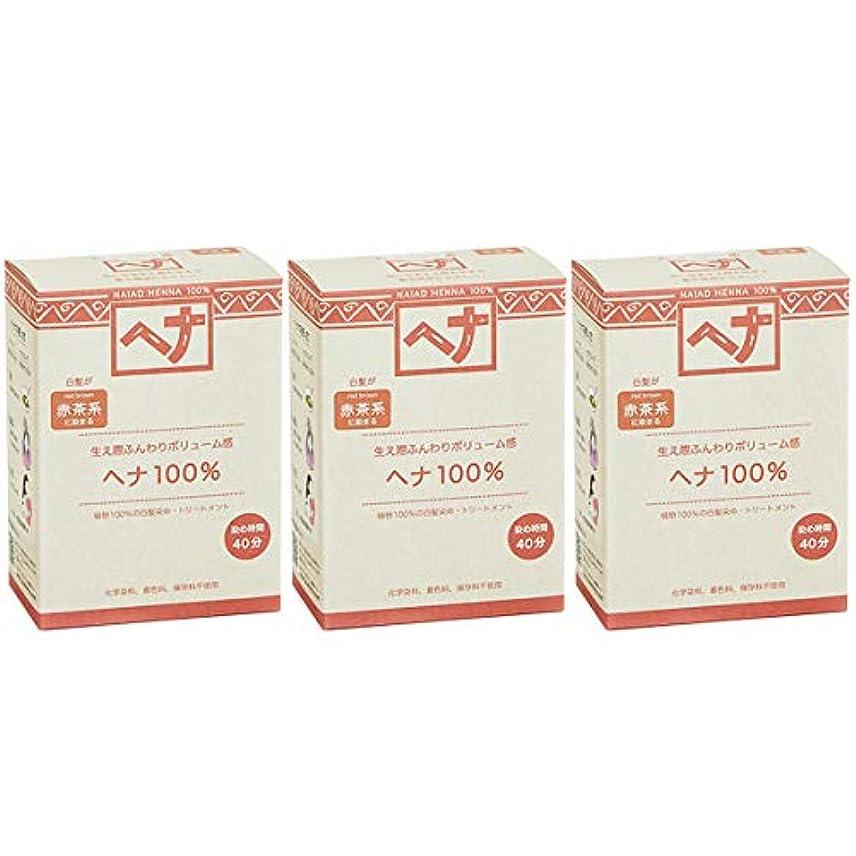 インゲンの配列悪党ナイアード ヘナ 100% 赤茶系 生え際ふんわりボリューム感 100g 3個セット 白髪染め 100%植物でつくられた自然素材