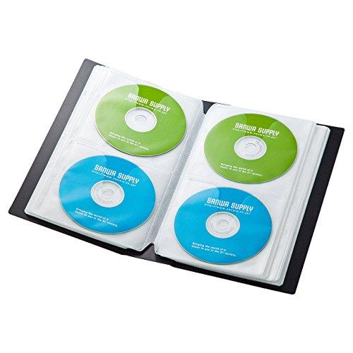 サンワサプライ DVD・CDファイルケース 72枚収納 ブラック FCD-FL72BK