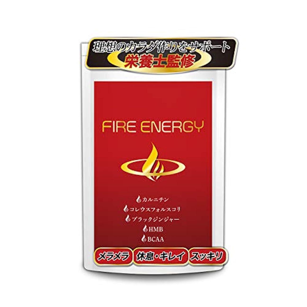 略奪十一複雑なFIRE ENERGY ダイエット サプリ 燃焼 HMB BCAA サプリメント(30日分60粒入り)