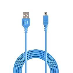 任天堂3DS USB充電用ケーブルは任天堂3DS, 3DS XL, 2DS, DSi, DSi XL (3m 10ft, 青)向けの、充電しながらゲームをプレイできます