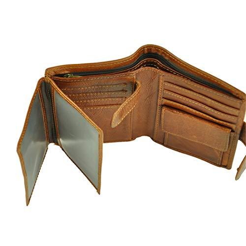 メンズウォレット大容量ショート折りたたみ財布縦型本物の革マル...