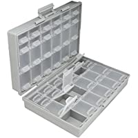 AideTek BOX-ALL パーツケース チップ抵抗 チップコンデンサ 144値を確実に整理収納 専用ラベルシール付