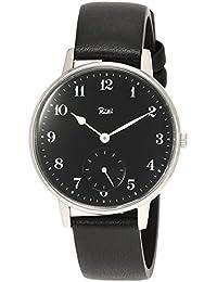 [リキ]RIKI 腕時計 RIKI クラシックデザイン 黒文字盤 墨黒革バンド AKPK432 メンズ