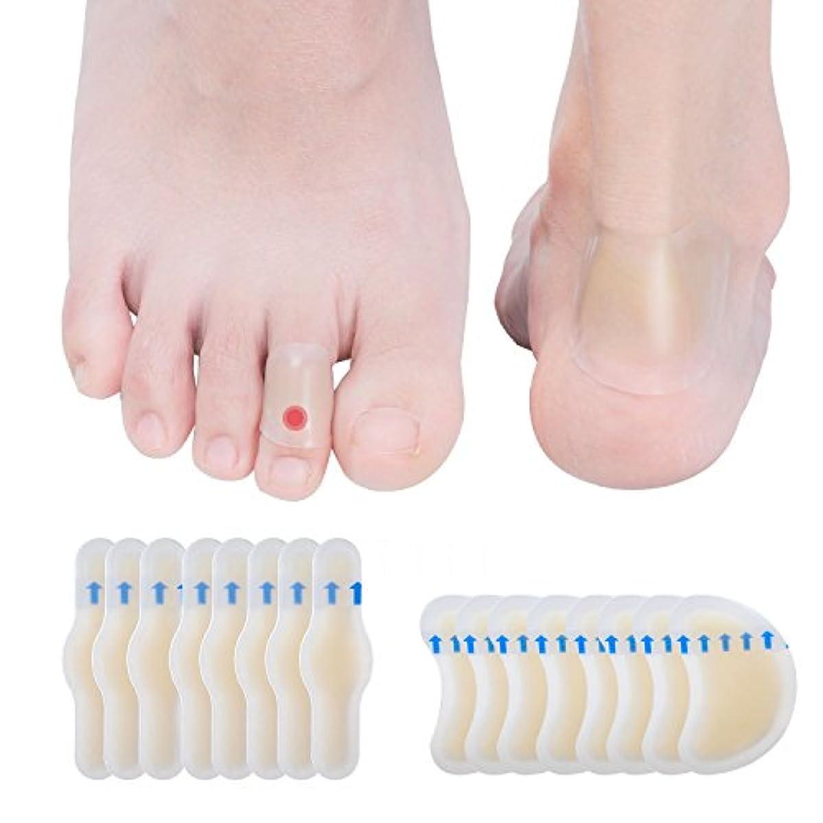 Sumifun タコ?ウオノメ除去用 ワンステップ 足の指用 キズパワーパッド 大きめサイズ 16枚