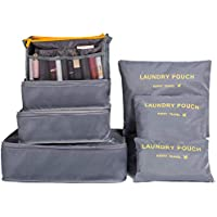Jollyfit 7 Set Travel Packing Cubes - Luggage Organizers Accessories with Toiletry Bag Cosmetic Make Up Organizer