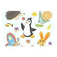 ランチョンマット ペンギン カタツムリ かわいい 1枚セット 義務用 断熱 撥水 防汚 速乾 水洗いOK 耐久性 シワに対する 家庭用 シンプル 便利 お手入れ 便利