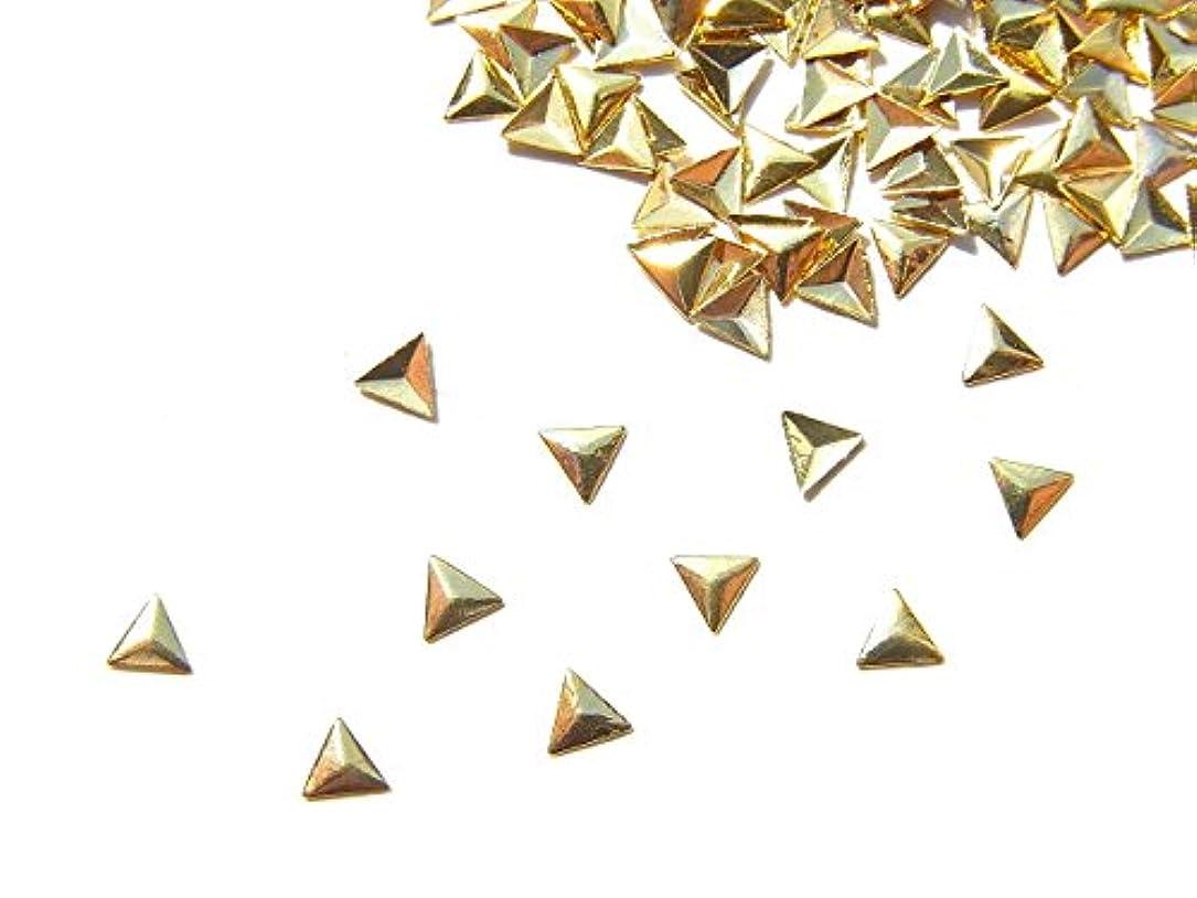 倉庫恥ポータブル【jewel】mp14 ゴールド メタルパーツ 三角型 トライアングル 10個入り ネイルアートパーツ レジンパーツ