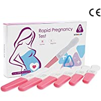 【第2類医薬品】妊娠検査薬 6本 99%以上の正確さ、使いやすい手持ち10mlU HCG妊娠検査薬。6個セット、生理予定日の6日前から検査ができる