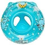(Baoxinjp)ベビー 浮き輪 胴回り 足入れ式 覆す防止 浮き袋 子供用 エコPVC 深める 浮輪おもちゃ 安全 幼児 肌に優し 象柄 お風呂 ハンドルつき 足入れ水泳圏 プール パーティ 海水浴 水遊び ピンク ブルー