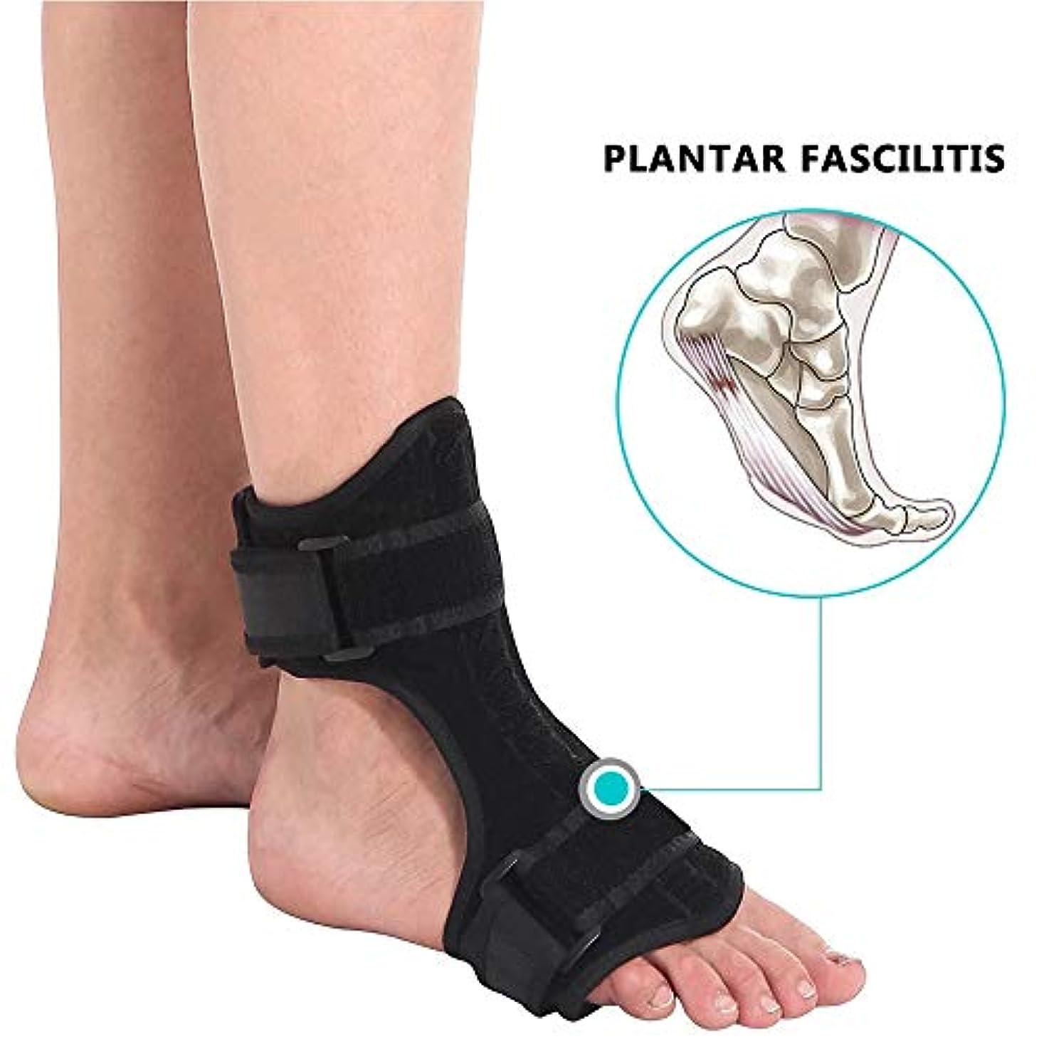 足底筋膜炎ナイトスプリントフットドロップブレース用ヒールペインリリーフアジャスタブルフットケアツール