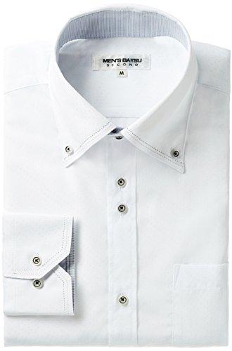 MENS-BATSU(メンズバツ) メンズ 襟付き シャツ 長袖 ワイシャツ 形態安定 トップス スリム ビジネス