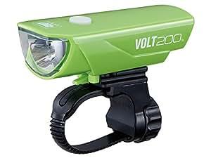キャットアイ(CAT EYE) ヘッドライト [VOLT200] リチウムイオン充電池 USB充電 ボルト200 HL-EL151RC グリーン 5342694