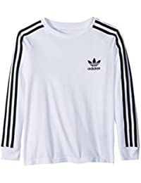 (アディダス) adidas キッズTシャツ California Long Sleeve Tee (Little Kids/Big Kids) White/Black MD (10-12 Big Kids) (M) One...