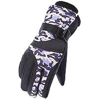 スノーボード手袋暖かい防水スキーグローブメンズサイクリング手袋、D
