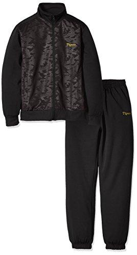 AMET(アメット) 阪神タイガース ジャージセットアップ トレーニングジャケット トレーニングパンツ ジャージ素材 上下セット プロ野球グッズ SHJP-16 ブラック XL
