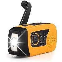 oenbopo ラジオ 多機能 ライト付き ポケットラジオ 3つ給電式 防災 懐中電灯 SOS 停電 地震などの緊急に対応 (イエロー1000mah)