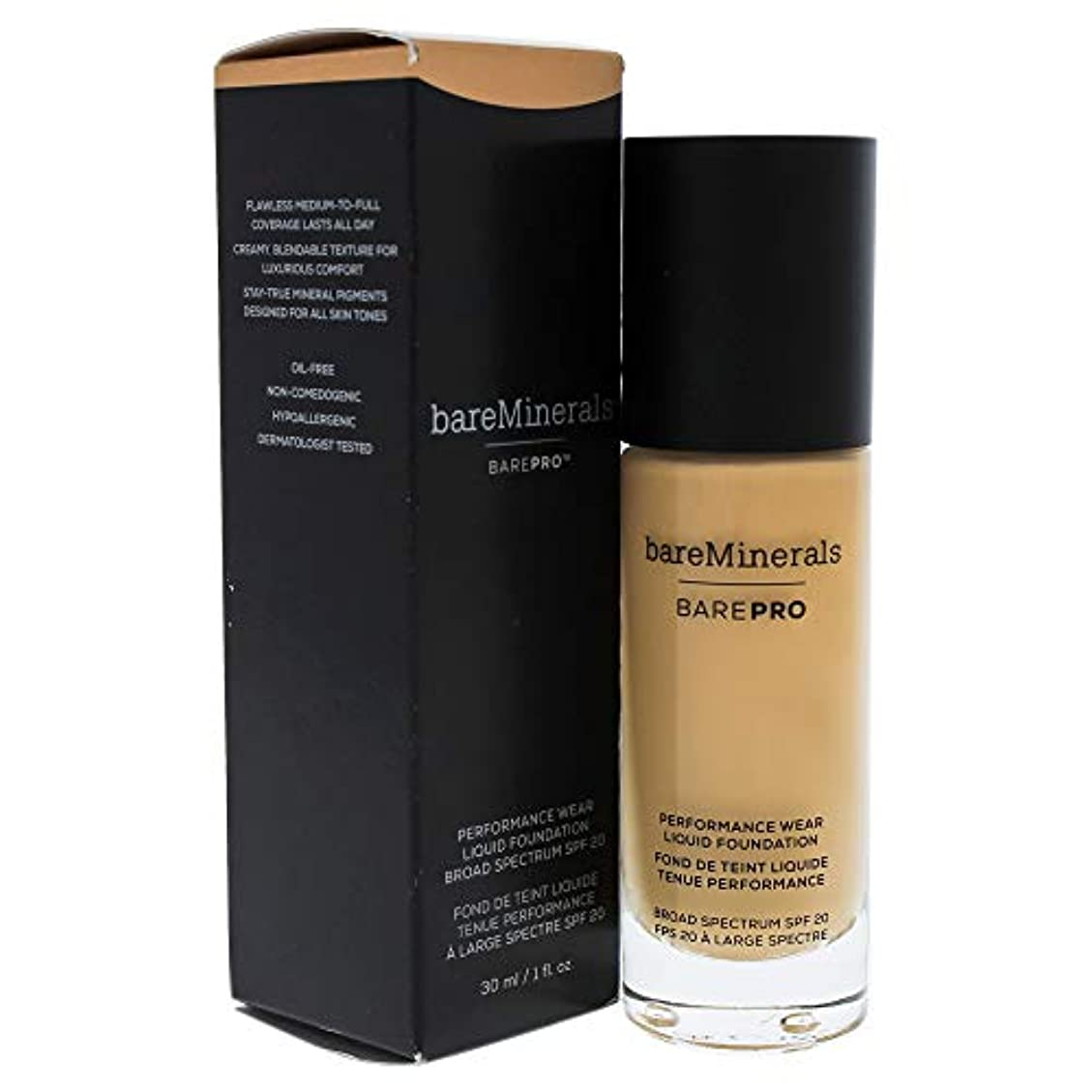 曲機会ビジョンベアミネラル BarePro Performance Wear Liquid Foundation SPF20 - # 16 Sandstone 30ml/1oz並行輸入品