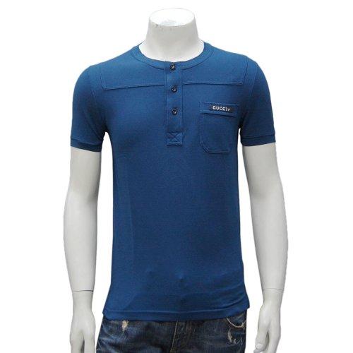 ヘンリー半袖Tシャツ 211747 X8486 4275 ブルー【並行輸入品】 グッチ