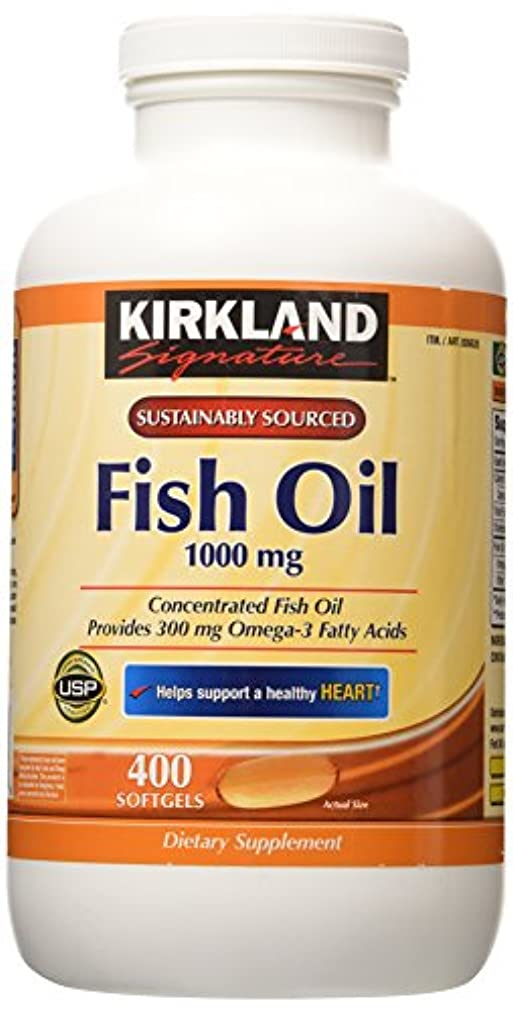 旅行誕生誓うKirkland Signature Natural Fish Oil Concentrate with Omega-3 Fatty Acids, 400 Softgels, 1000mg