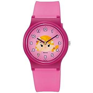 [シチズン キューアンドキュー]CITIZEN Q&Q 腕時計 Disney コレクション 『 TSUMTSUM 』 『 ラプンツェル 』 ウレタンベルト ピンク HW00-007 ガールズ