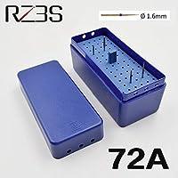 バール、リーマおよびグッタペルカポイントのCAPRICOS RZ3S 72個の穴歯科オートクレーブボックス1セット歯内箱エンドホルダー高品質:72A