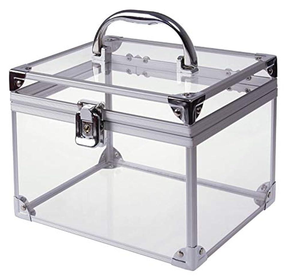 歩き回る野球元の[moonfarm] アクリル製 透明 工具箱 小型 ツール ケース パーツ ボックス 作業 道具 用具 入れ メイクボックス クリア スケルトン モデル (段なしタイプ)