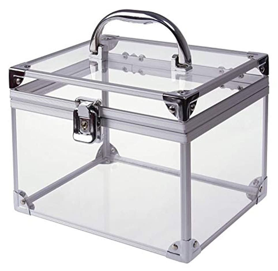 関税利益ポンプ[moonfarm] アクリル製 透明 工具箱 小型 ツール ケース パーツ ボックス 作業 道具 用具 入れ メイクボックス クリア スケルトン モデル (段なしタイプ)