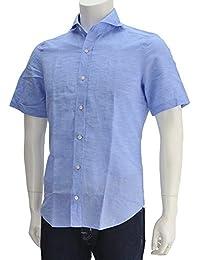 (フィナモレ) finamore SERGIO セルジオ メンズ 半袖シャツ ライトブルー [並行輸入品]