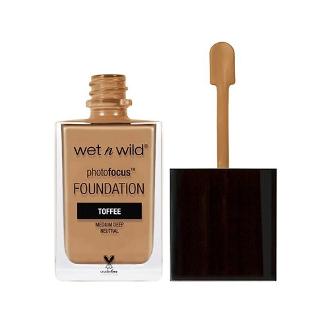 潜在的な粉砕する(3 Pack) WET N WILD Photo Focus Foundation - Toffee (並行輸入品)