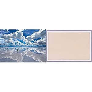 3000ピース ウユニ塩湖 木製フレームセット シャインホワイト