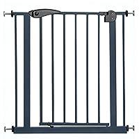 ブラック伸縮金属安全ゲート幼児の安全ゲート赤ちゃん階段バリアペット犬フェンスポール隔離ドア66-155センチメートル、高さ77センチメートル (サイズ さいず : 115-124cm)