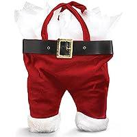 Santa Pants Wine Bottle Holiday Tote Bag.