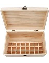 sharprepublic エッセンシャルオイル 木製収納ボックス ディスプレイ キャリーケース オーガナイザーホールド 32本
