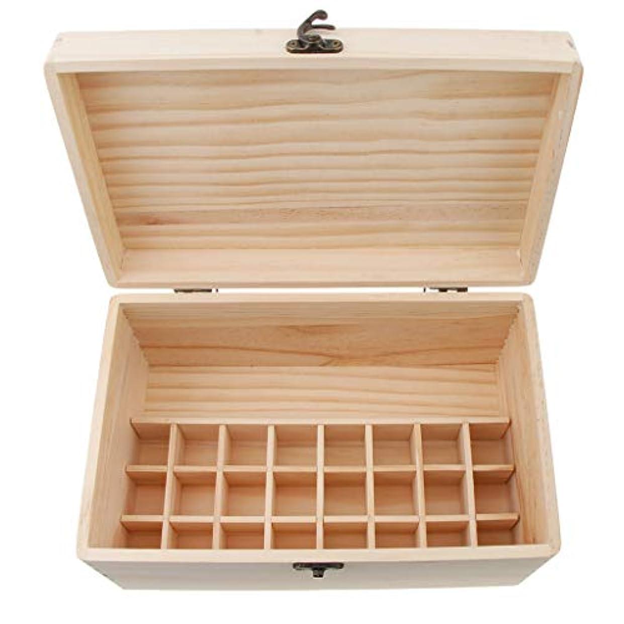 面積堀惑星dailymall エッセンシャルオイル 収納ボックス 木製 24グリッド ガラスボトル 香水収納 保存 可動仕切り板